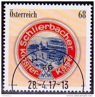 Austria Österreich 2017  Klassische Warenzeichen (XII): Schlierbacher Käse USED / O / GESTEMPELT - 1945-.... 2. Republik