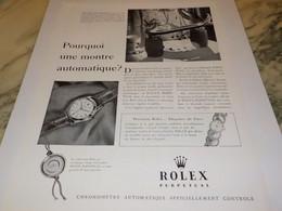PUBLICITE AFFICHE PRECISION ROLEX ELEGANCE DE PARIS 1951 - Jewels & Clocks