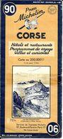 Carte MICHELIN No 90 , CORSE  De 1949 ( état ) - Cartes Routières