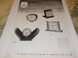 ANCIENNE PUBLICITE PLAISIR D OFFRIR UN  REVEIL JAZ  1953 - Jewels & Clocks