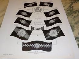 ANCIENNE PUBLICITE MONTRE DERMONT 1951 - Bijoux & Horlogerie