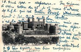Thematiques Great Britain London Londres Tower Of Timbre Cachet AU 28 1900 - Autres