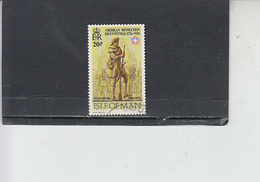 ISOLA Di MAN 1976 -  Unificato  66 - Bicentenario USA - Isola Di Man