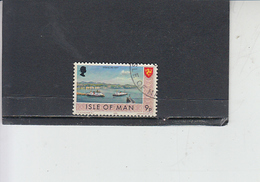 ISOLA Di MAN 1973 -  Unificato 13 - Serie Ordinaria - Barche - Isola Di Man