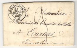 12706 - ARNAY LE DUC - Marcophilie (Lettres)