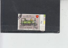 ISOLA Di MAN 1973 -  Unificato  20 - Ferrovie - Isola Di Man