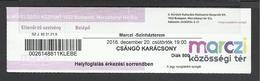 Hungary, Budapest, Csango Christmas, Student Ticket, 1918. - Tickets D'entrée