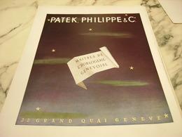 ANCIENNE PUBLICITE MAITRES DE L HORLOGERIE GENEVOISE MONTRE PATEK PHILPPE 1951 - Bijoux & Horlogerie