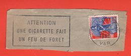 FLAMME POSTALE SUR FRAGMENT - VILLE DE TOULON - 1960 - Poststempel (Einzelmarken)