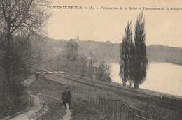 PONTHIERRY  Perspective De La Seine Et Panorama De St Fargeau - France