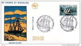L4H249 SAINT PIERRE MIQUELON 1994 FDC Œuvres De Mer 2,80f Saint-Pierre 02 07 1994/envel.  Illus. - FDC