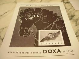 ANCIENNE PUBLICITE UNE MARQUE QUI SAUTE A L OEIL  MONTRE DOXA 1951 - Bijoux & Horlogerie