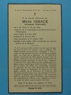 Elisabeth Tenhaef Mère Ignace St-Gilles 1884 ??? 1952 - Images Religieuses