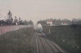 Houdeng Goegnies Pont Casterman Avec Train à Vapeur - La Louvière