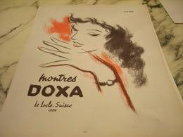 ANCIENNE PUBLICITE LE LOCLE SUISSE MONTRE DOXA 1951 - Bijoux & Horlogerie