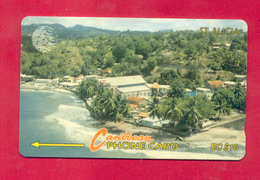 "St. LUCIA: STL-14A ""Coastline"" CN:14CSLA Rare (14.425 Ex) - Saint Lucia"