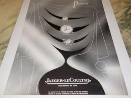 ANCIENNE PUBLICITE PRIORITE MONTRE JAEGER LE COULTRE  1953 - Bijoux & Horlogerie