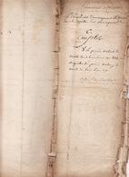 Gen D'Auch 10 Avril 1761 Eaux Et Forets Plan De La Communauté De Cardeillac 5 Scans - Cachets Généralité