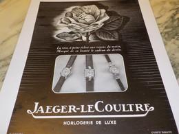 ANCIENNE PUBLICITE HORLOGERIE DE LUXE JAEGER-LECOULTRE 1950 - Affiches