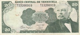 VENEZUELA 20 BOLIVARES 1987 -VF (BA169 - Venezuela