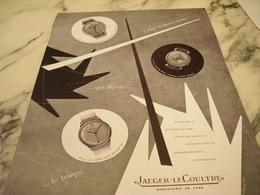 ANCIENNE PUBLICITE MONTRE JAEGER LECOULTRE J AIME LE MOUVEMENT 1954 - Affiches