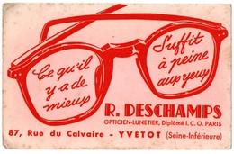 Buvard R. Deschamps Opticien-Lunetier Yvetot - Buvards, Protège-cahiers Illustrés
