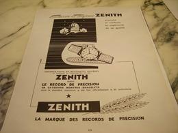 ANCIENNE AFFICHE PUBLICITE FABRIQUE DE MONTRE ZENITH 1951 - Bijoux & Horlogerie
