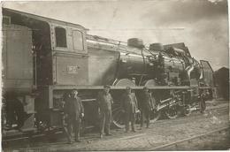 CARTE PHOTO TRAIN TRES GROS PLAN 1937 - Transport Urbain En Surface