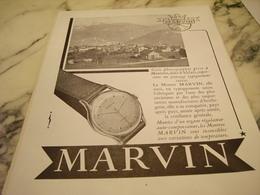 ANCIENNE PUBLICITE MONTRE MARVIN 1951 - Bijoux & Horlogerie