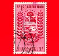 VENEZUELA - Usato - 1953 - Stemma Dello Stato Di Barinas - Arms - 1.20 - P. Aerea - Venezuela