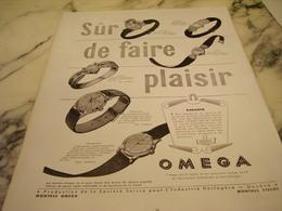 ANCIENNE PUBLICITE SUR DE FAIRE PLAISIR  MONTRE OMEGA   1951 - Jewels & Clocks