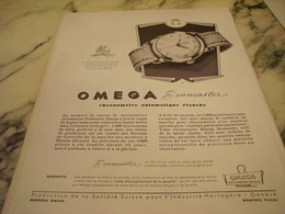 ANCIENNE PUBLICITE SEAMASTER  MONTRE OMEGA   1951 - Bijoux & Horlogerie