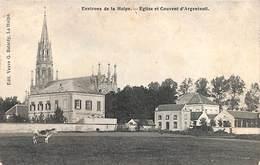 La Hulpe (environs De) - Eglise Et Couvent D'Argenteuil (animée, Edit. Vve G. Batardy) - La Hulpe