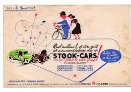 Buvard Stook-cars Au Lieu De Stock-cars Jeu De Société Edmond Dujardin Vélo Voitures Automobiles - Textile & Clothing