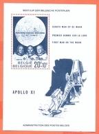 Belgium België 1969 Bloc 46 Moon Landing Armstrong Aldrin Collins USA MNH - Blocs 1962-....