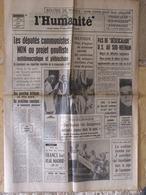 Journal L'Humanité (3 Avril 1969) Députés Communistes - Coup Grsou Mexique - ONU/Israël - J Greco - 1950 - Today
