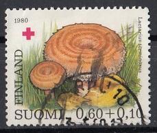 Finlandia 1978 Sc. B221 Mushrooms Funghi Commestibili Champignons Woolly Milkcap Red Cross Croce Rossa Used Suomi - Funghi