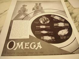 ANCIENNE PUBLICITE ATTENTION MES ENFANTS MONTRE OMEGA 1931 - Bijoux & Horlogerie