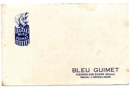 Buvard Bleu Guimet Fleurieu Sur Saône - Buvards, Protège-cahiers Illustrés