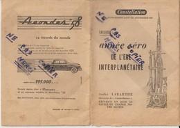 Livret - 1957 - ANNEE ZERO DE L'ERE INTERTERPLANETAIRE - Voir En Couverture SIMCA Voiture Aronde De 58 - 11 Scannes - Non Classés