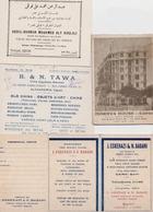 EGYPTE LA CAIRE CAIRO  Réunion De 4 Documents - Publicités