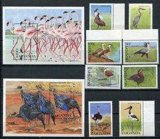 1990  - UGANDA  - BIRDS-  8 VAL.+ 2 S.S. M.N.H.- LUXE ! ! - Uganda (1962-...)