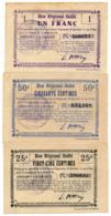 1914-1918 // Bon Régional Unifié // Commune D'ESSIGNY-LE-GRAND // Bon De 25/50Centimes Et 1 Franc - Bons & Nécessité