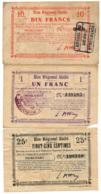 1914-1918 // Bon Régional Unifié // Commune De MORCOURT // Bon De 25 Centimes Et 1 Et 10 Francs - Bons & Nécessité