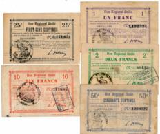 1914-1918 // Bon Régional Unifié // Commune D'URVILLERS // Bon De 25 & 50 Centimes Et 1/2 Et 10 Francs - Bons & Nécessité