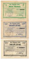 1914-1918 // Bon Régional Unifié // Commune De FIEULAINE // Bon De 25 & 50 Centimes Et 2 Francs - Bons & Nécessité