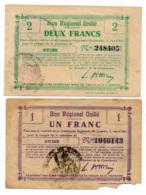 1914-1918 // Bon Régional Unifié // Commune De GUISE // Bon De 1 & 2 Francs - Bons & Nécessité