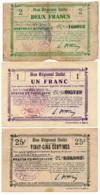 1914-1918 // Bon Régional Unifié // Commune D'ETAVES-ET-BOCQUIAUX // Bon De 25 Centimes Et 1 Et 2 Francs - Bons & Nécessité