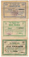 1914-1918 // Bon Régional Unifié // Commune De BOHAIN // Bon De 50 Centimes Et 2 Et 10 Francs - Bons & Nécessité