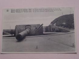 Batterie Wilhelm II Knocke S/ Mer - The Gun Had A Maximum Range Of 23 Miles ( Thill ) Anno 19?? ( Zie Foto ) ! - Guerre 1914-18